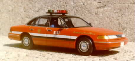 Lindberg's 1997 Ford kit as a Chicago Fire Department chief's car